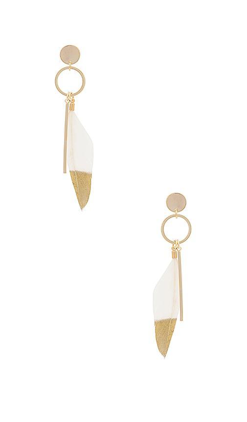 Wanderlust + Co Take Flight Earring In Metallic Gold