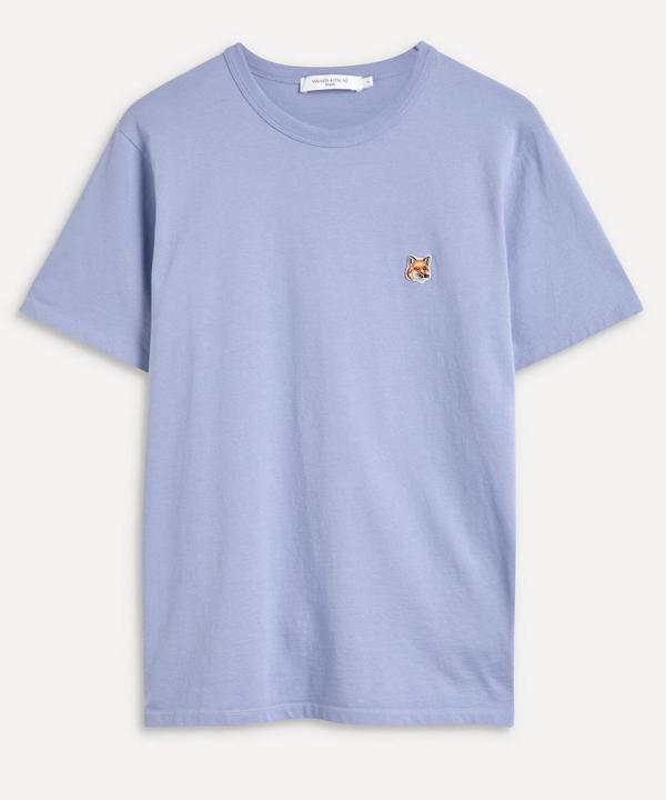Maison Kitsuné Fox Head Patch Cotton Crewneck T-shirt In Provencal Blue