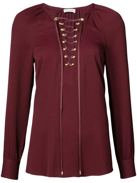 Altuzarra Laced Front Blouse In Red