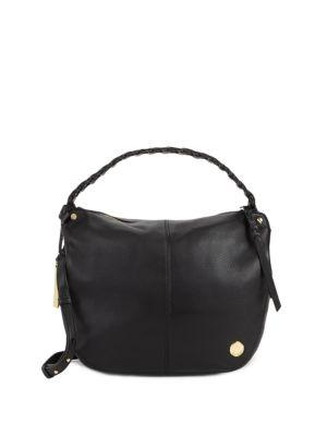 Vince Camuto Small Leather Hobo Bag In Black