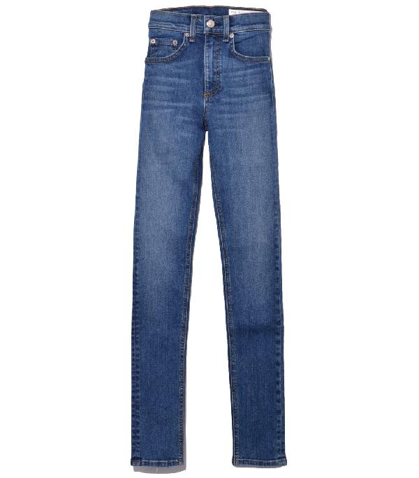 Rag & Bone Blue El High Rise Skinny Jeans