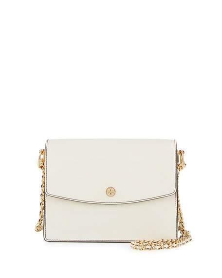 Tory Burch Parker Leather Convertible Shoulder Bag In Duststorm/cardam