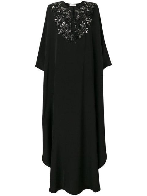 Emilio Pucci Floral Embroidery Kaftan Dress