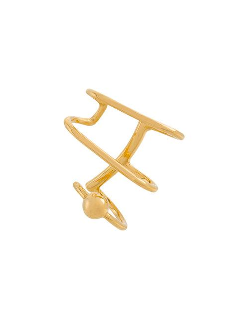Maria Black Auricle Earcuff (left) In Yellow