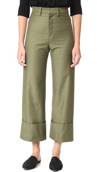 Sea Cuffed Pants In Army Green