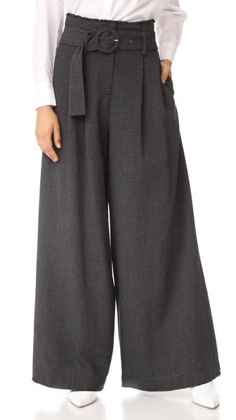 Sea High Waist Slouchy Pants In Dark Grey