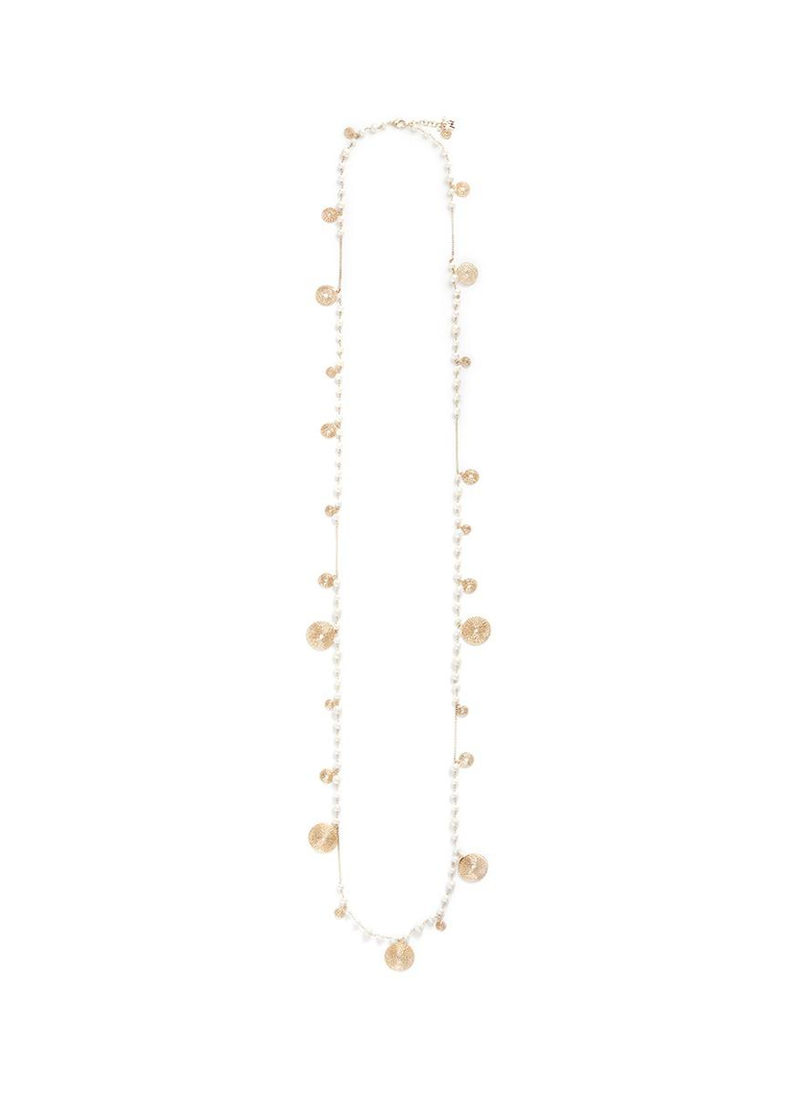 Rosantica 'armonia' Faux Pearl Swirl Charm Long Necklace