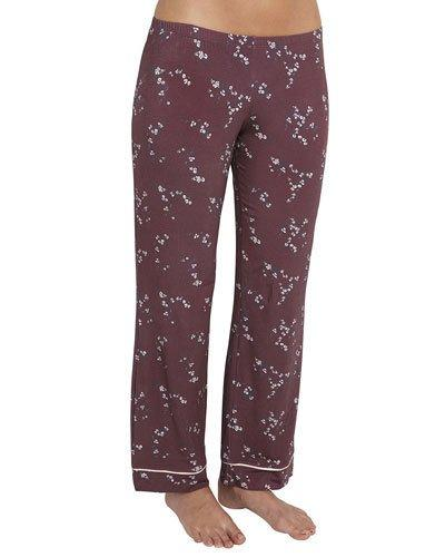 Eberjey Daisy Jersey-knit Pajama Pants In Red Pattern