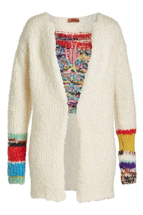 Missoni Cardigan With Wool, Alpaca And Mohair In Multicolored