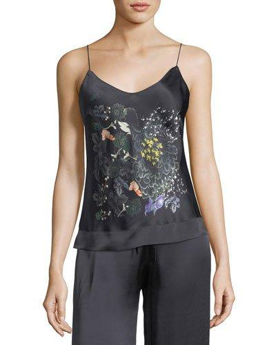 Meng Floral-print Silk Camisole In Multi Pattern