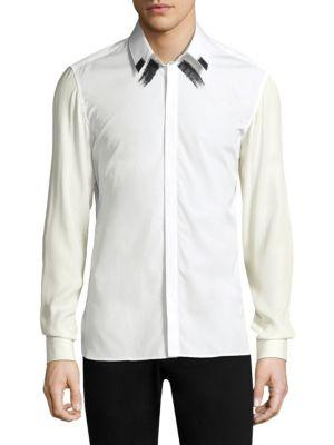 Neil Barrett Long-sleeve Casual Button Down In White