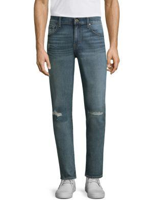 7 For All Mankind Paxtyn Clean-pocket Jeans In Westender