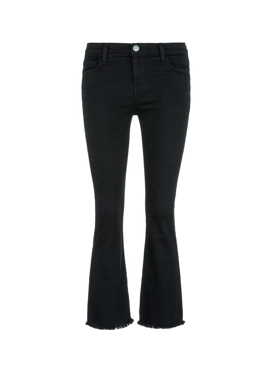 Current Elliott 'the Kick' Cropped Flared Jeans