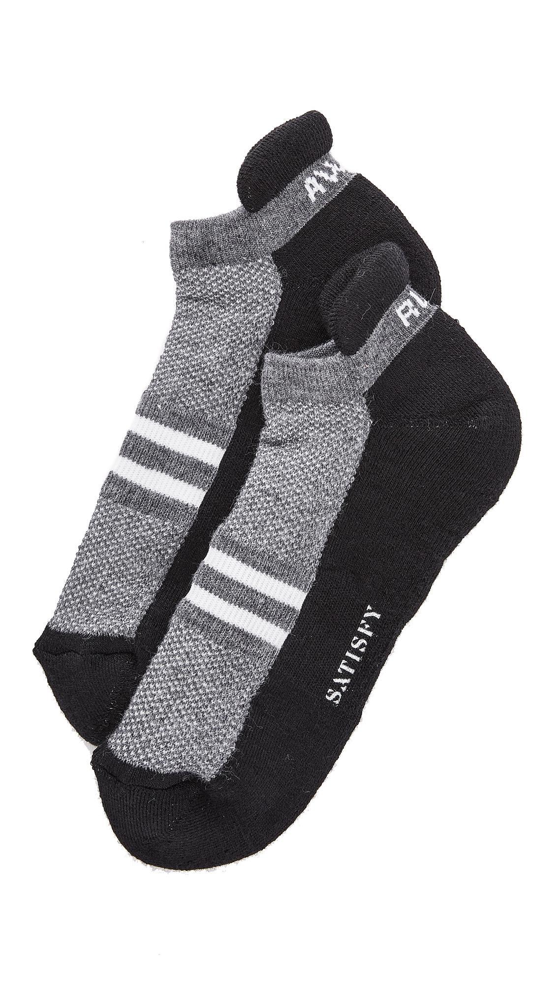 Satisfy Patchwork Ankle Socks In Black
