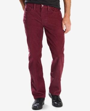 Levi's 514 Straight Fit Bedford Corduroy Pants In Merlot