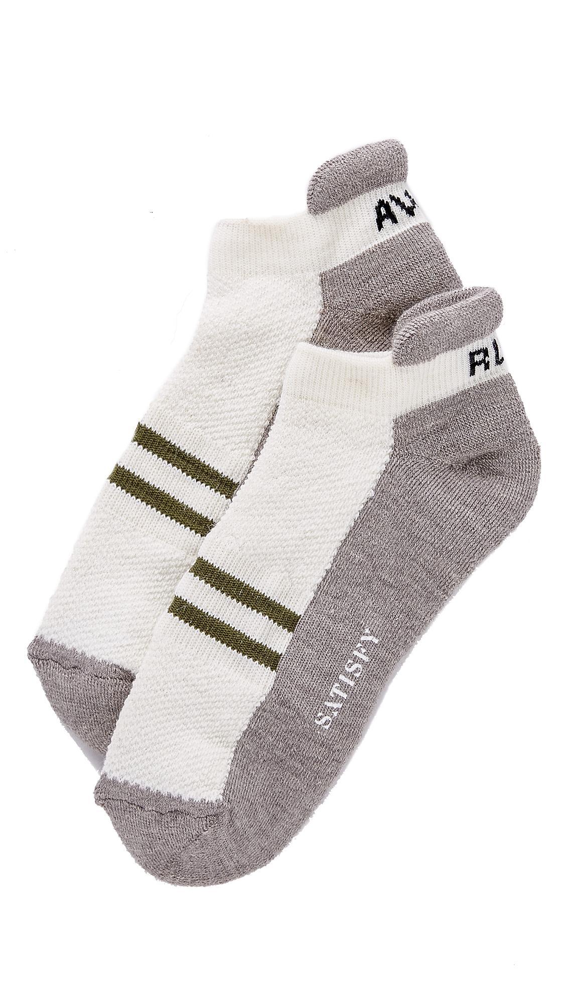 Satisfy Patchwork Ankle Socks In White