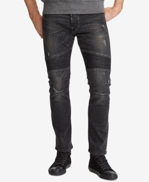 Polo Ralph Lauren Men's Sullivan Slim-fit Jeans In Hughes Black Stretch Repaired