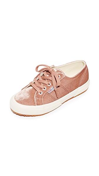 Superga 2750 Velvet Sneakers In Blush