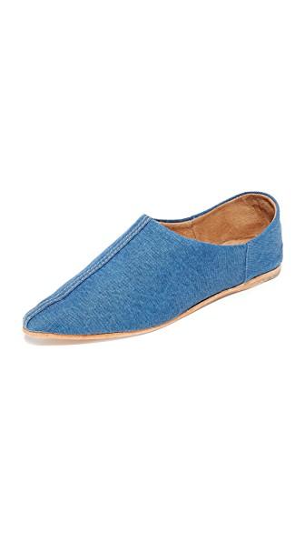 Jeffrey Campbell Vijay Jean Convertible Flats In Blue Denim