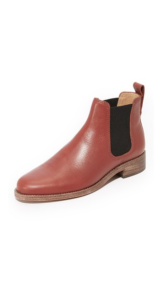 Madewell Ainsley Chelsea Boots In Vintage Redwood
