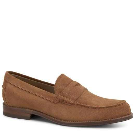 Tod's Suede Loafers In Brown