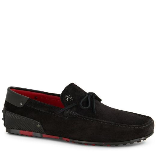 Tod's For Ferrari City Gommino Loafers In Suede In Black