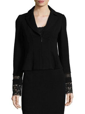 Nanette Lepore Parisian Long Sleeve Jacket In Black