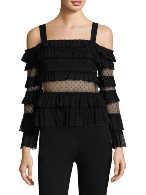 Alexis Karissa Cold Shoulder Top In Black