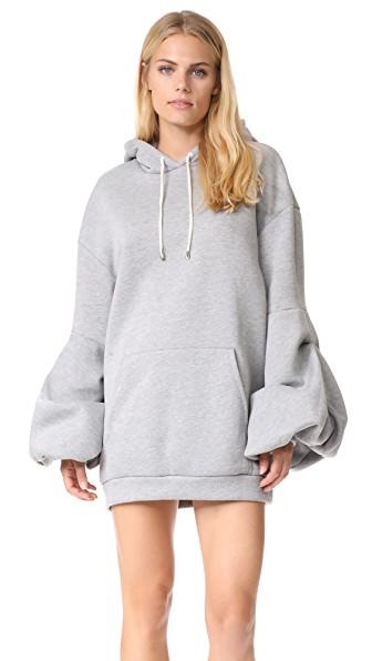 Petersyn Lucy Sweatshirt Dress In Heather Grey