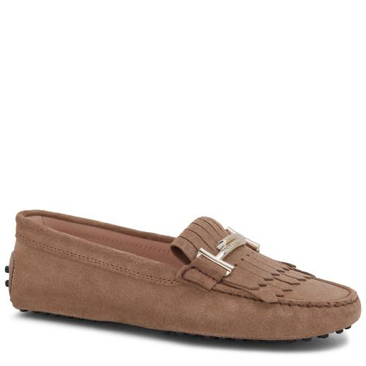 Tod's Gommino Driving Shoes In Suede In Brown
