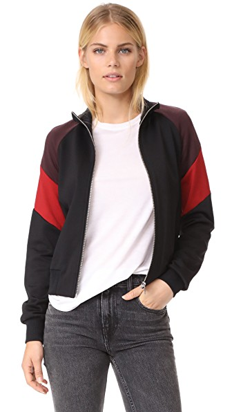 A.l.c Rio Jacket In Black/tuscan Red/raisin