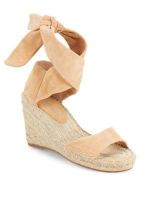 Splendid Jessica Open-toe Espadrille Wedge Sandals In Nude