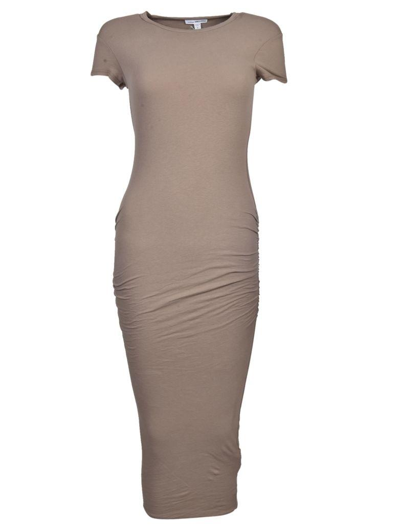 James Perse Classic Skinny Dress In Coyote