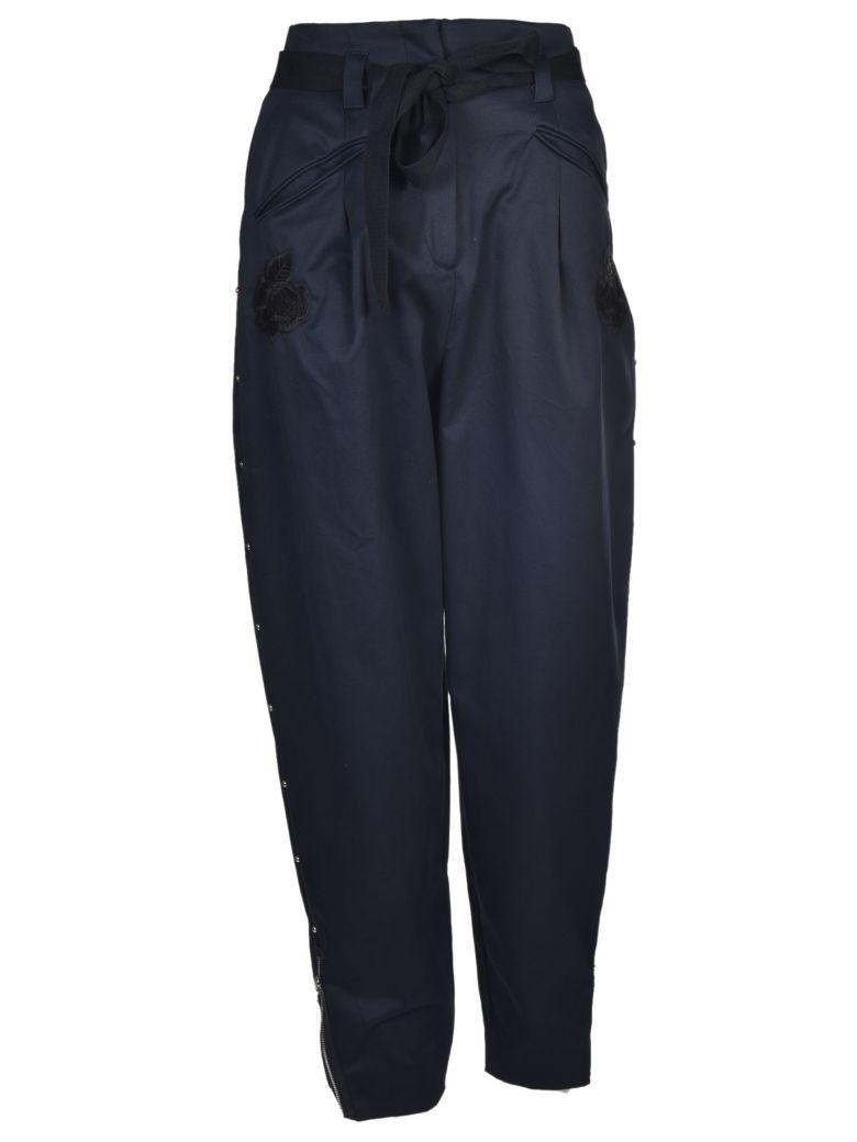 Markus Lupfer Cropped Balloon Trousers In Navy