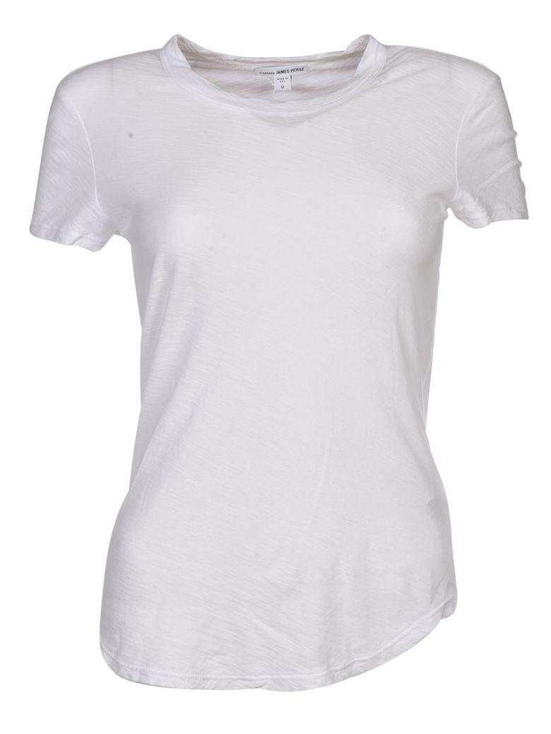 James Perse Crew Neck T-shirt In White