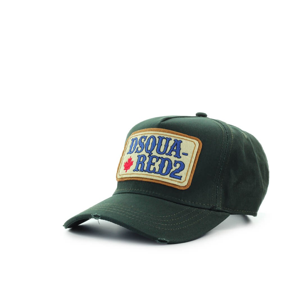 Dsquared2 D2 Patch Western Military Green Baseball Cap In Militare