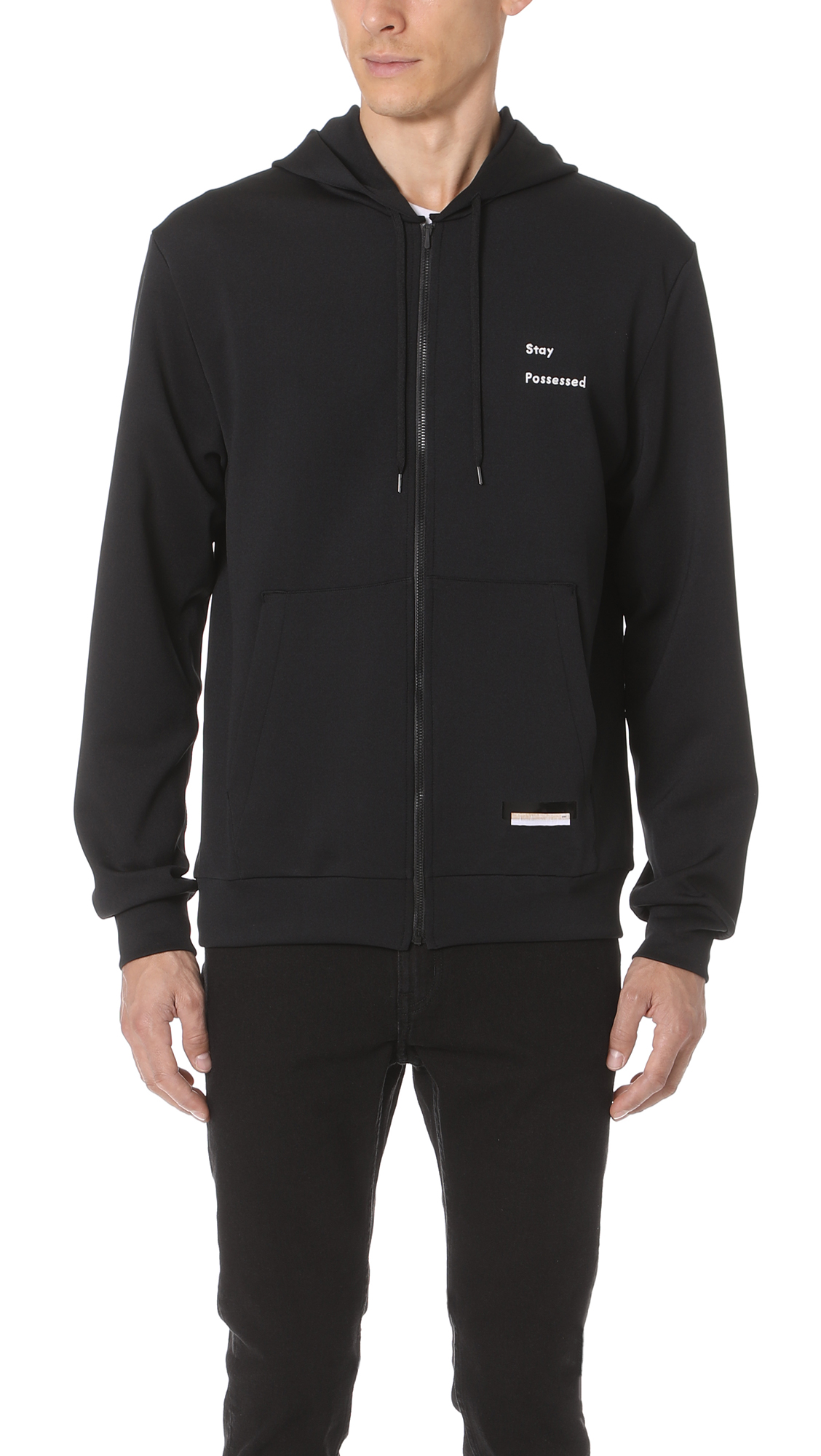 Satisfy Spacer Post Run Zip Hoodie In Black