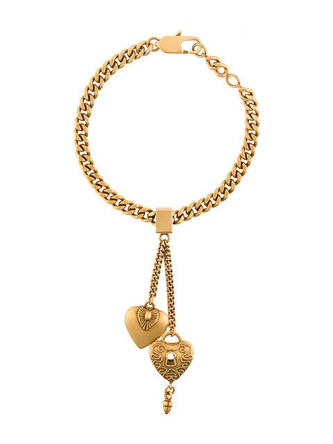 ChloÉ Collected Hearts Charm Bracelet In Metallic
