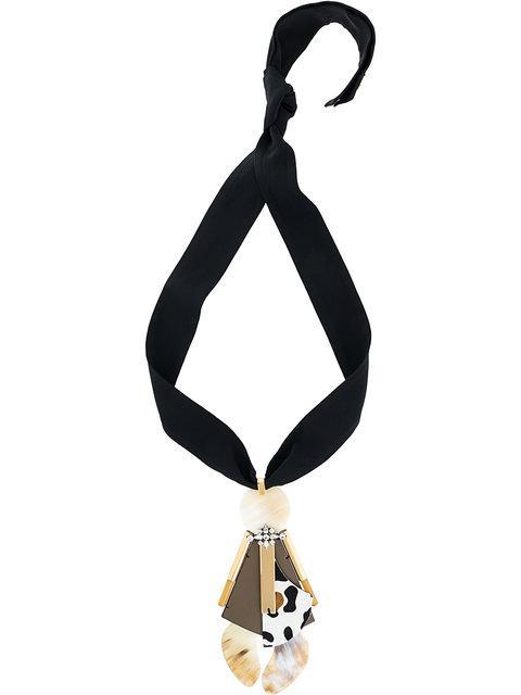 Marni Embellished Necklace - Black