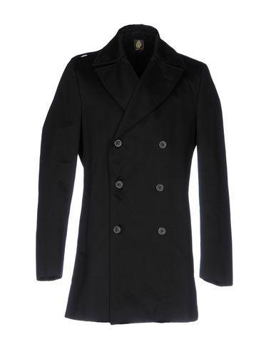 Dondup Overcoats In Black