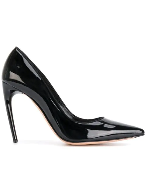 Alexander Mcqueen Black Leather Pumps
