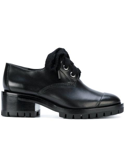 3.1 Phillip Lim Woman Hayett Glossed-leather Ankle Boots Black