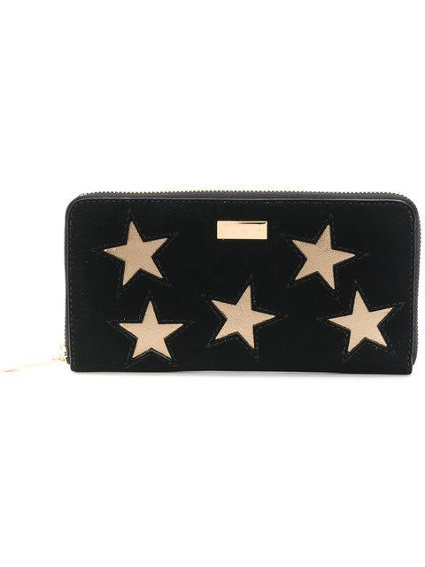 Stella Mccartney Star Patch Continental Purse - Black
