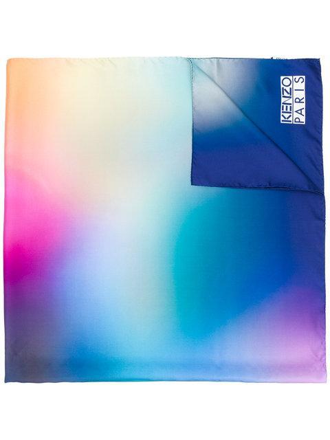 Kenzo Spray Print Style Printed Scarf