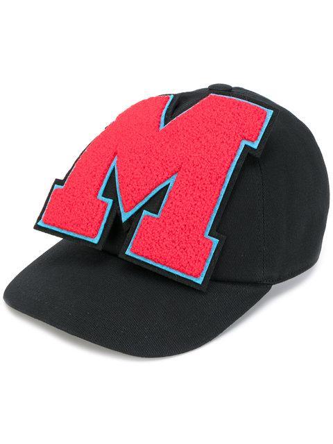 Msgm Brand Patch Cap - Black