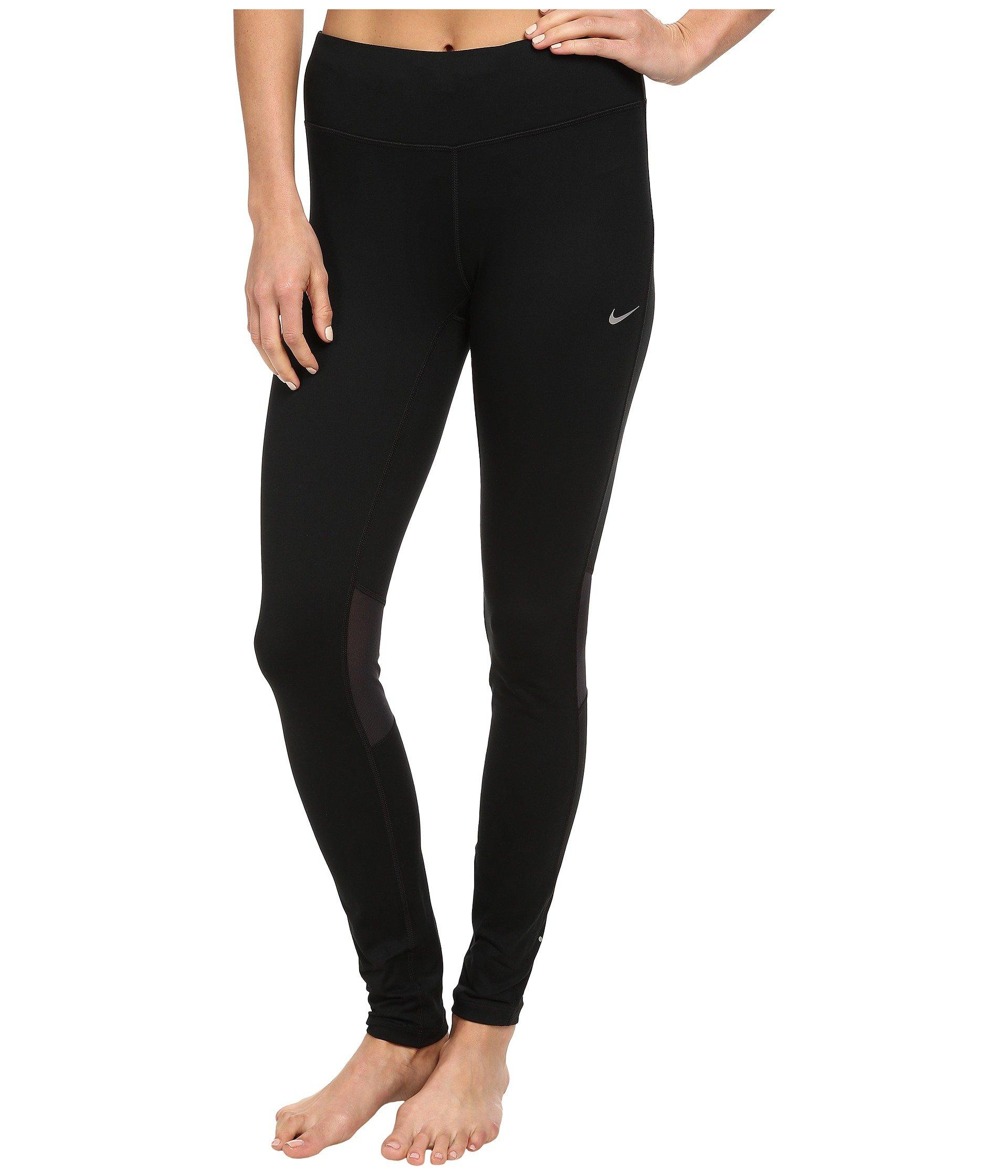 Nike Dri-fit™ Epic Run Tight In Black/black/reflective Silver
