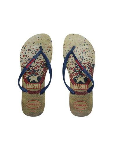 Havaianas Toe Strap Sandals In Blue