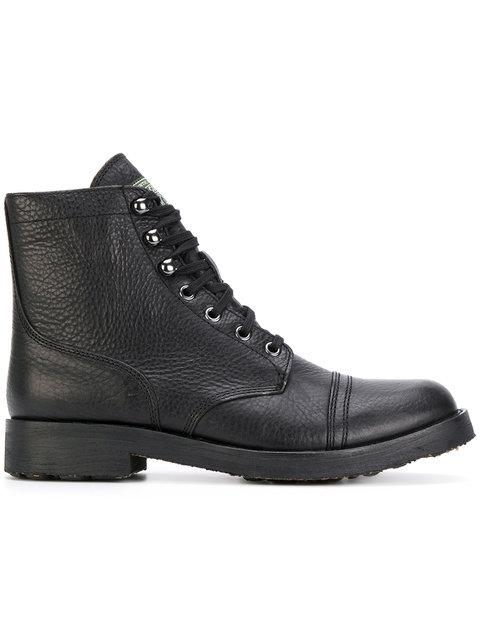 Polo Ralph Lauren Lace Up Boots In Black