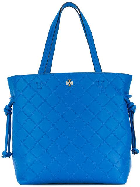 Tory Burch Georgia Slouchy Quilted Leather Tote - Blue In Galleria Blue