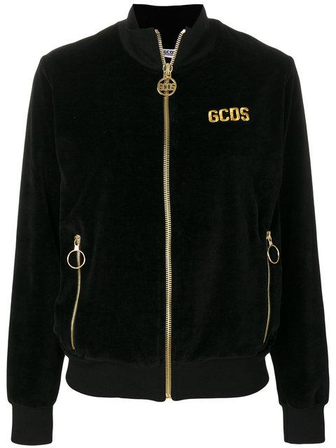 Gcds Zipped Jacket - Black